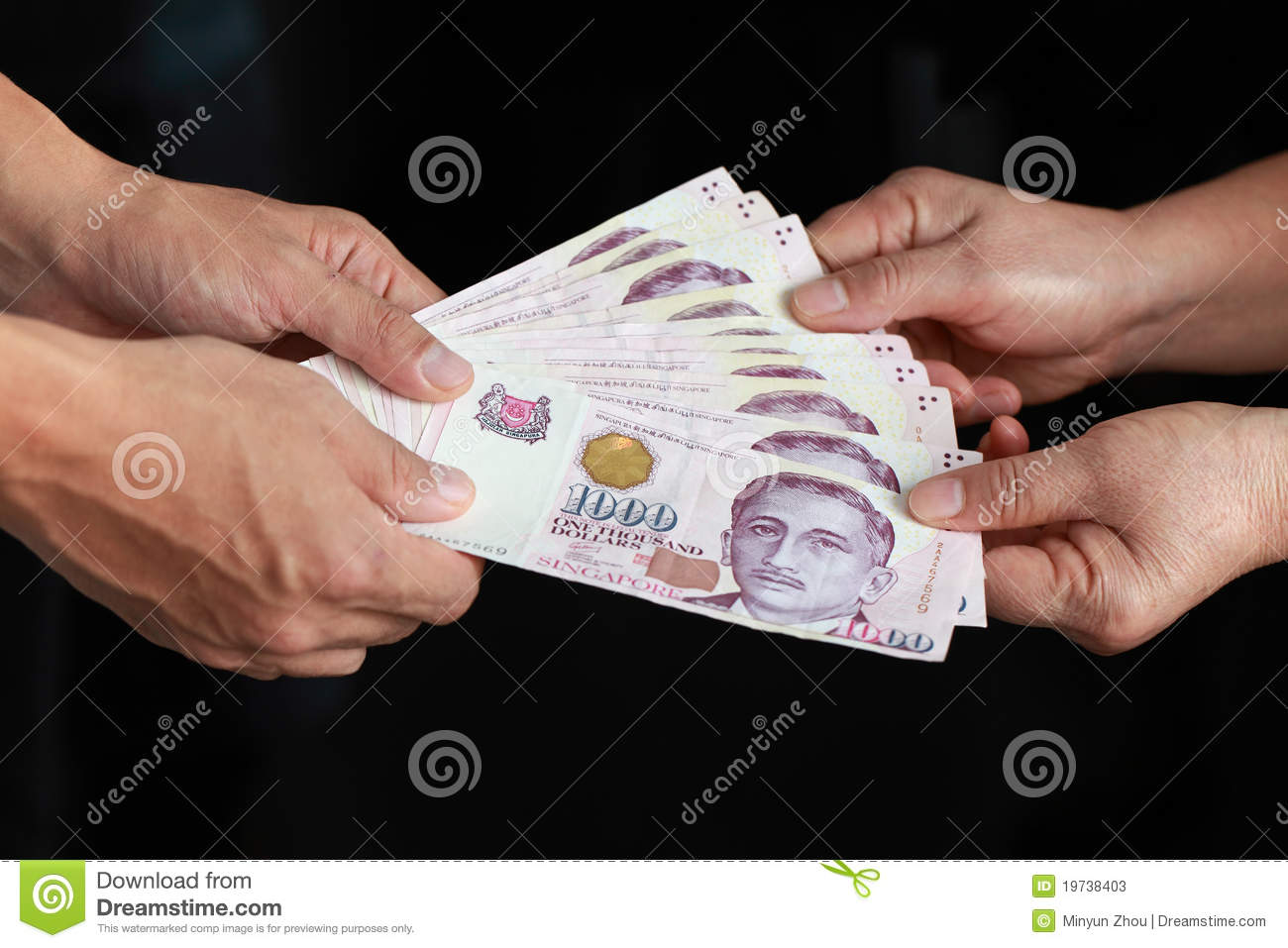 Hand with money