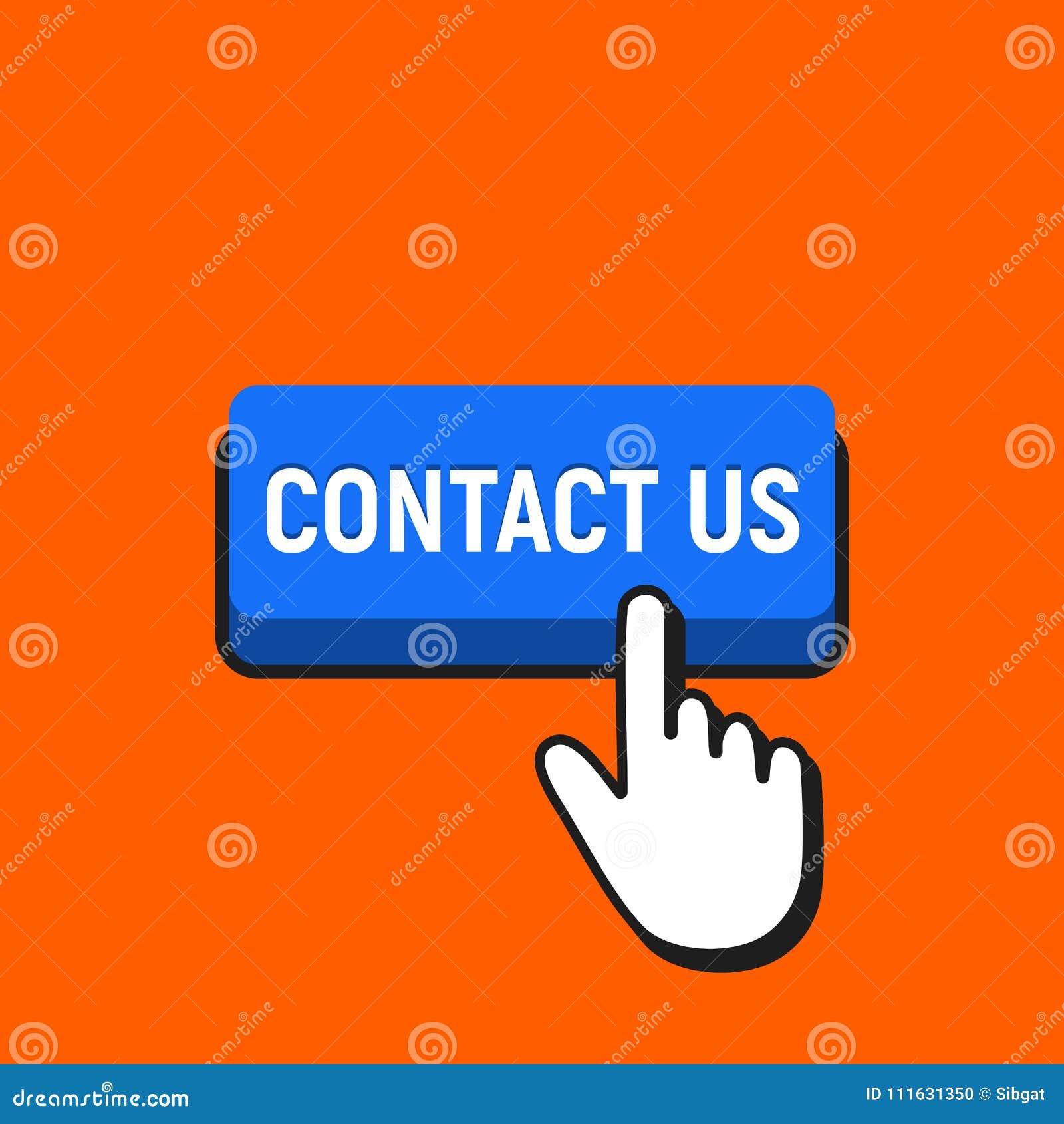 Hand mouse cursor clicks the contact us button stock vector hand mouse cursor clicks the contact us button maxwellsz