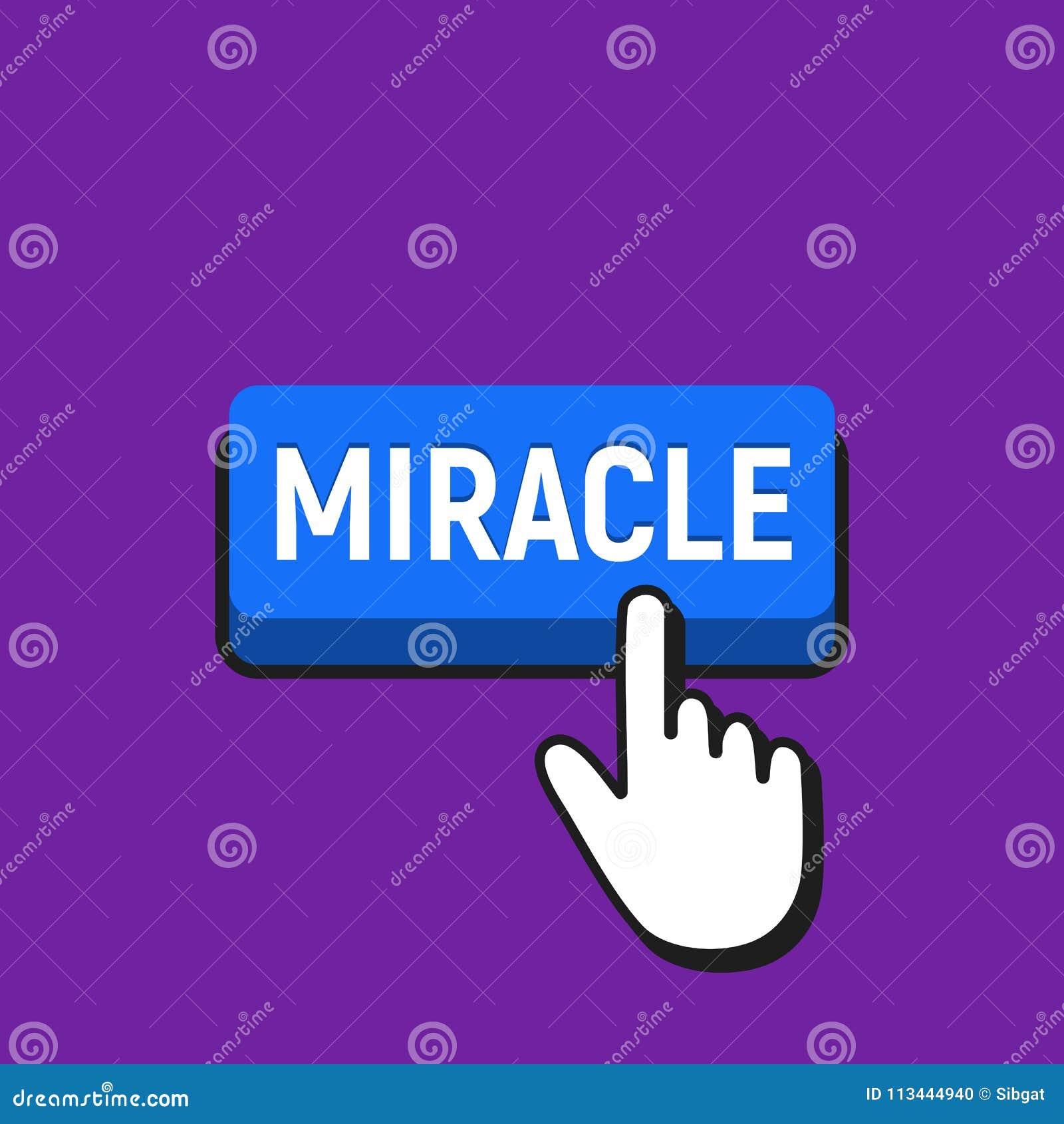 Hand mouse cursor clicks the miracle button stock vector download hand mouse cursor clicks the miracle button stock vector illustration of template maxwellsz