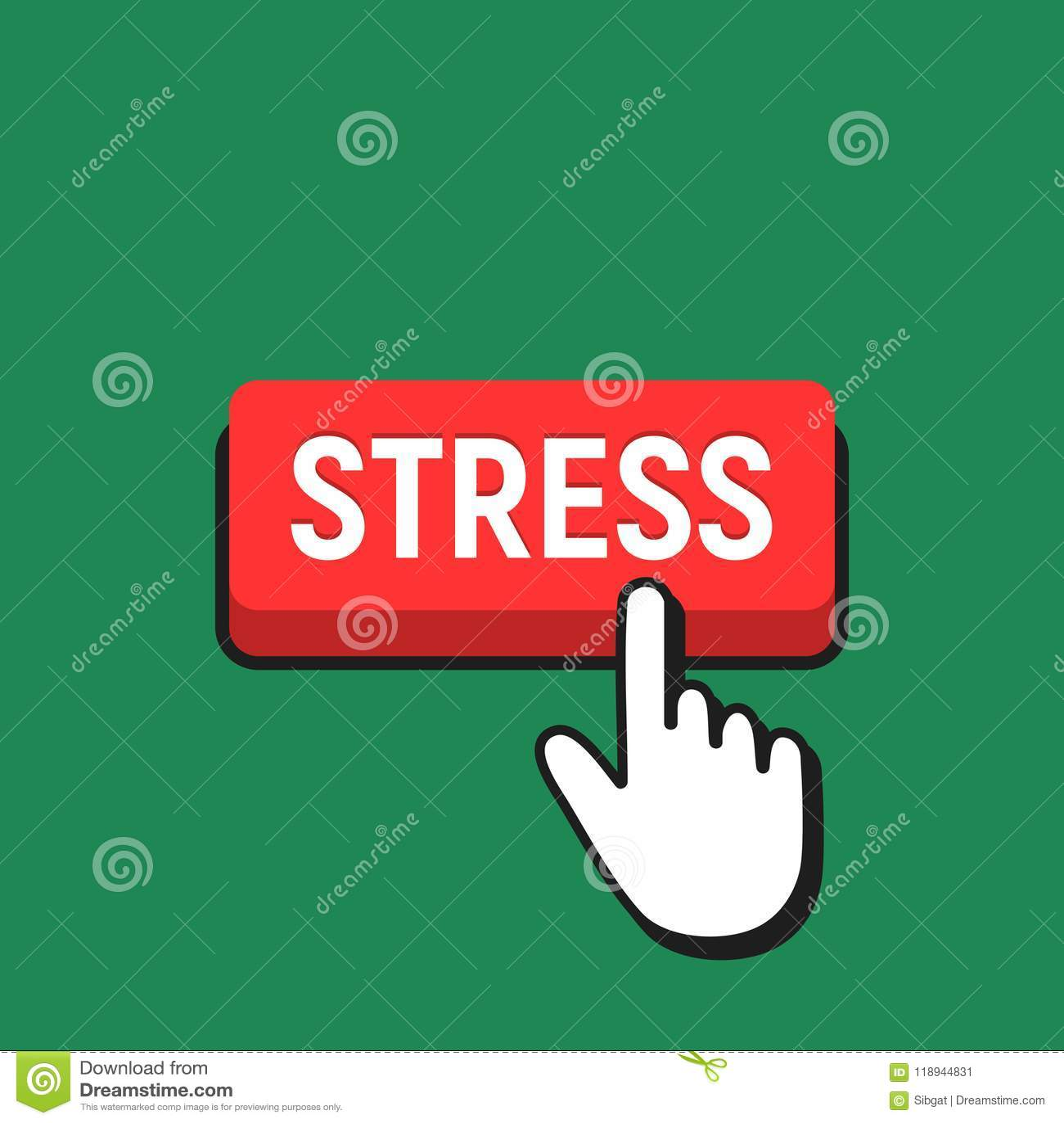 Hand mouse cursor clicks the stress button stock vector download hand mouse cursor clicks the stress button stock vector illustration of template maxwellsz