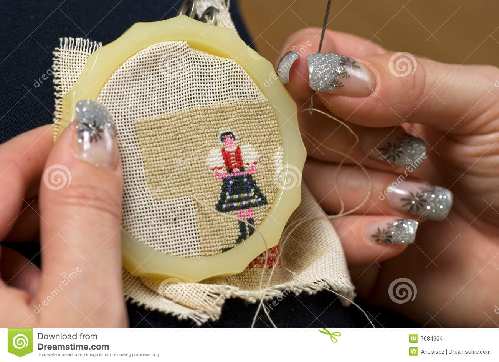 hand needlework stock images image 7084304