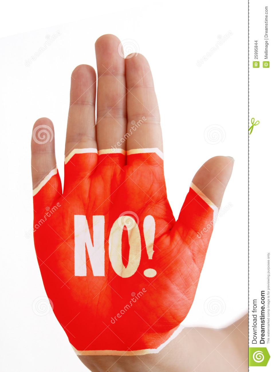 More similar stock images of ` Hand with No sign! `