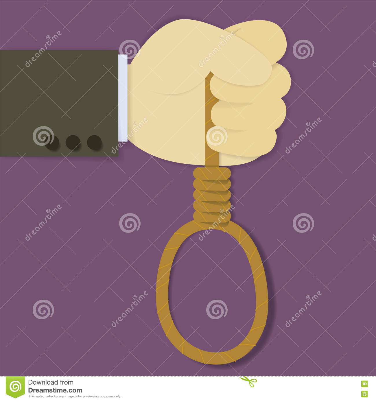 Hand With Noose Stock Vector Illustration Of Adult Casino 82022205