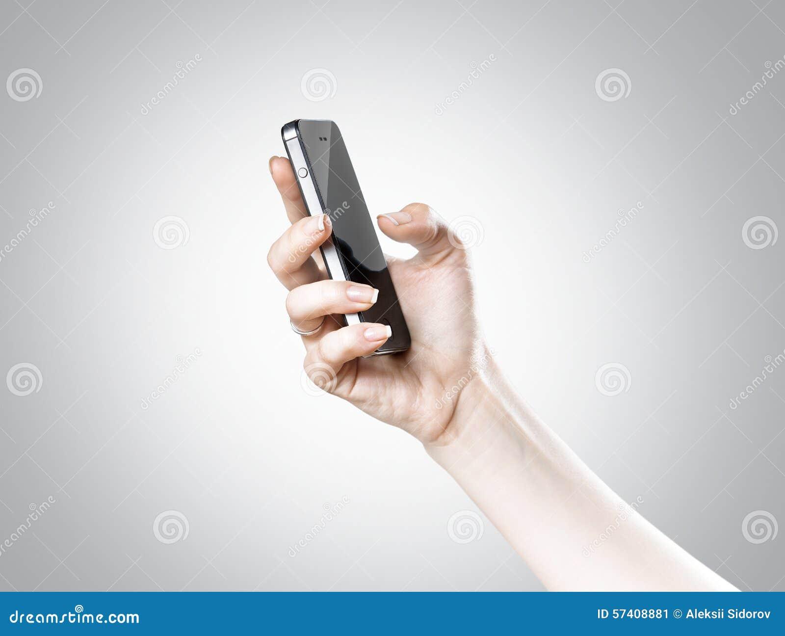 Hand och smartphone