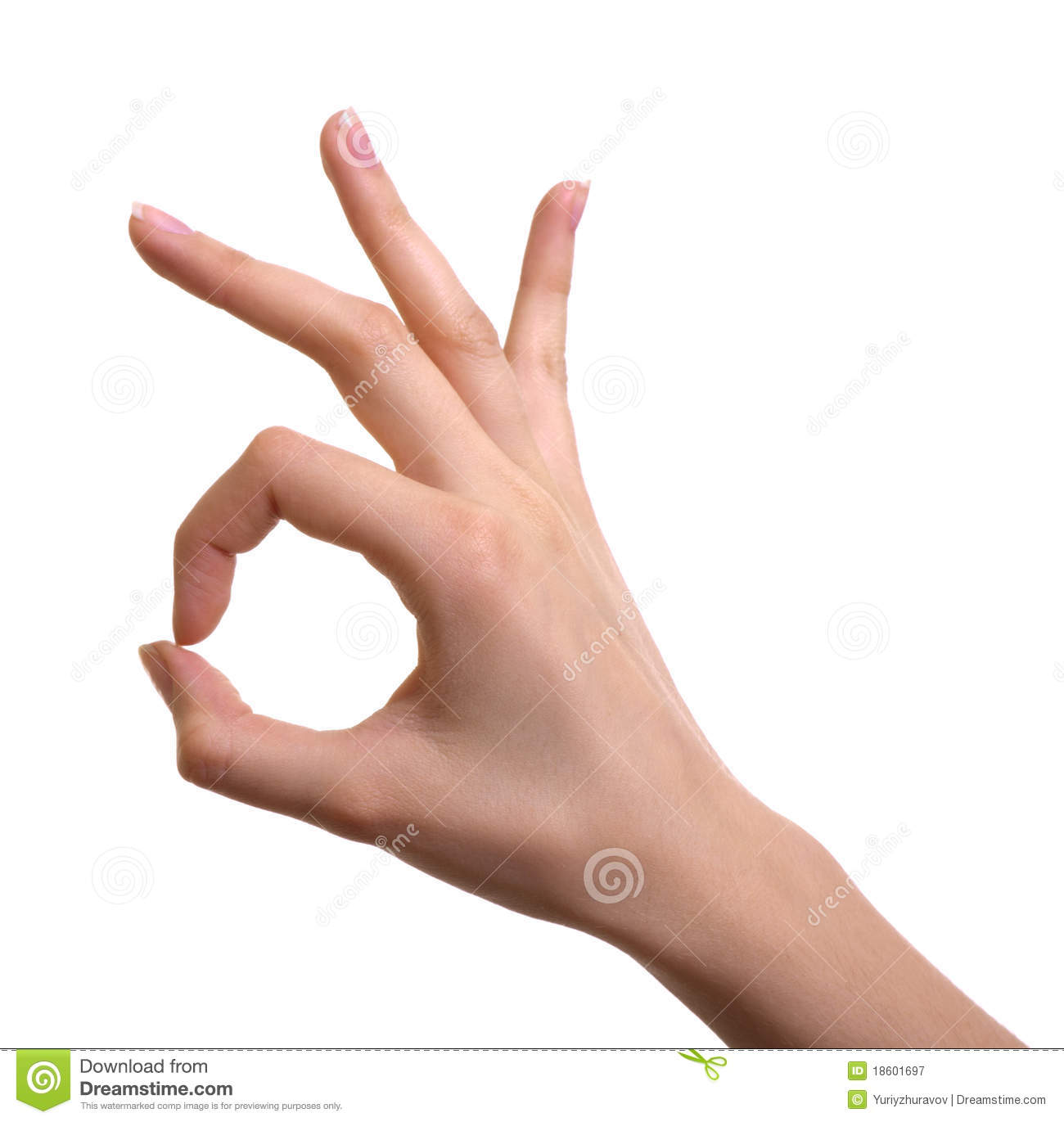 hand ok sign isolated stock image image of gesture fingernail