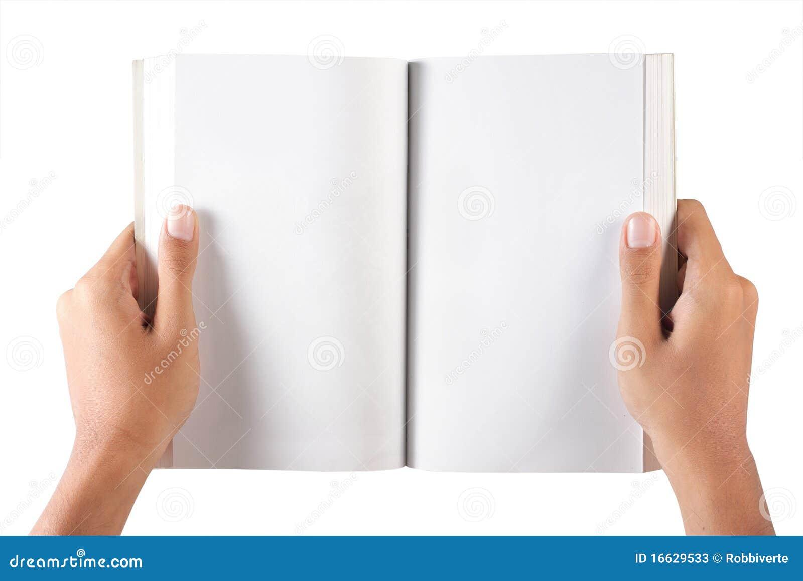 Hand Open Blank Book Stock Photos Image 16629533