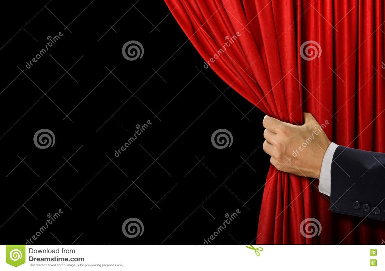 Open theater drapes or stage curtains royalty free stock image image - Royalty Free Stock Photo Background Black Curtain Hand Open Red Stage Curtains Cinema
