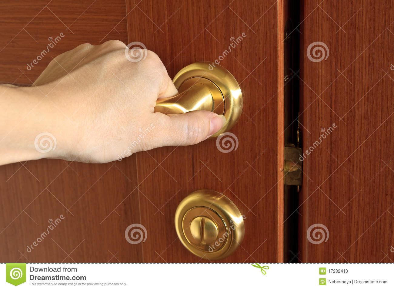 Hand Opening Door Stock Photo Image 17282410