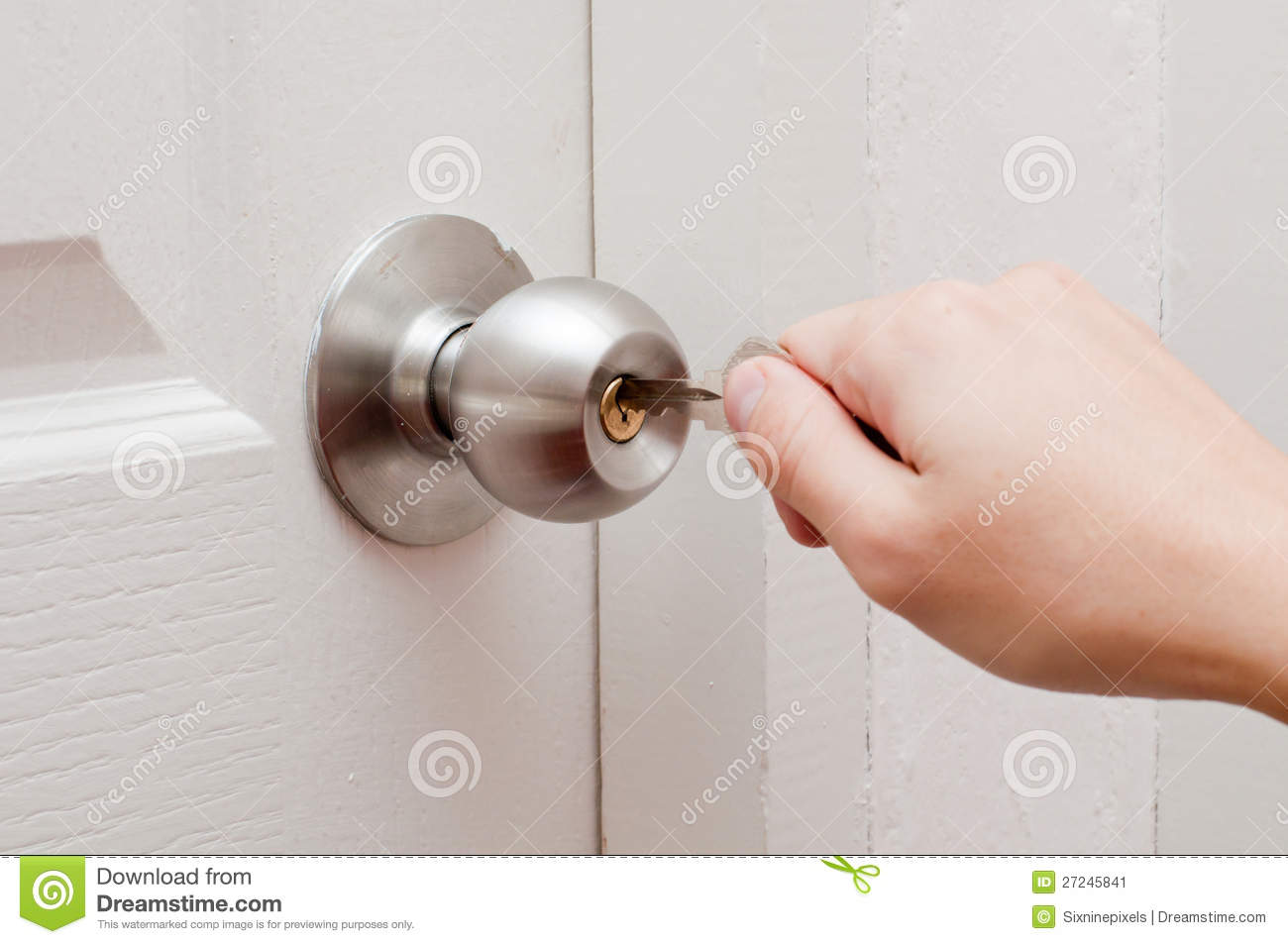 Royalty-Free Stock Photo. Download Hand Opening Door ... & Hand Opening Door By Key Stock Image - Image: 27245841 Pezcame.Com