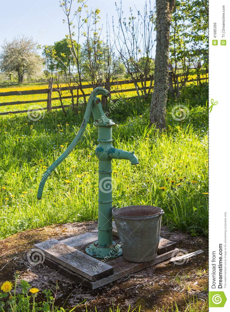 Royalty Free Stock Photo. Download Hand Operated Water Pump ...