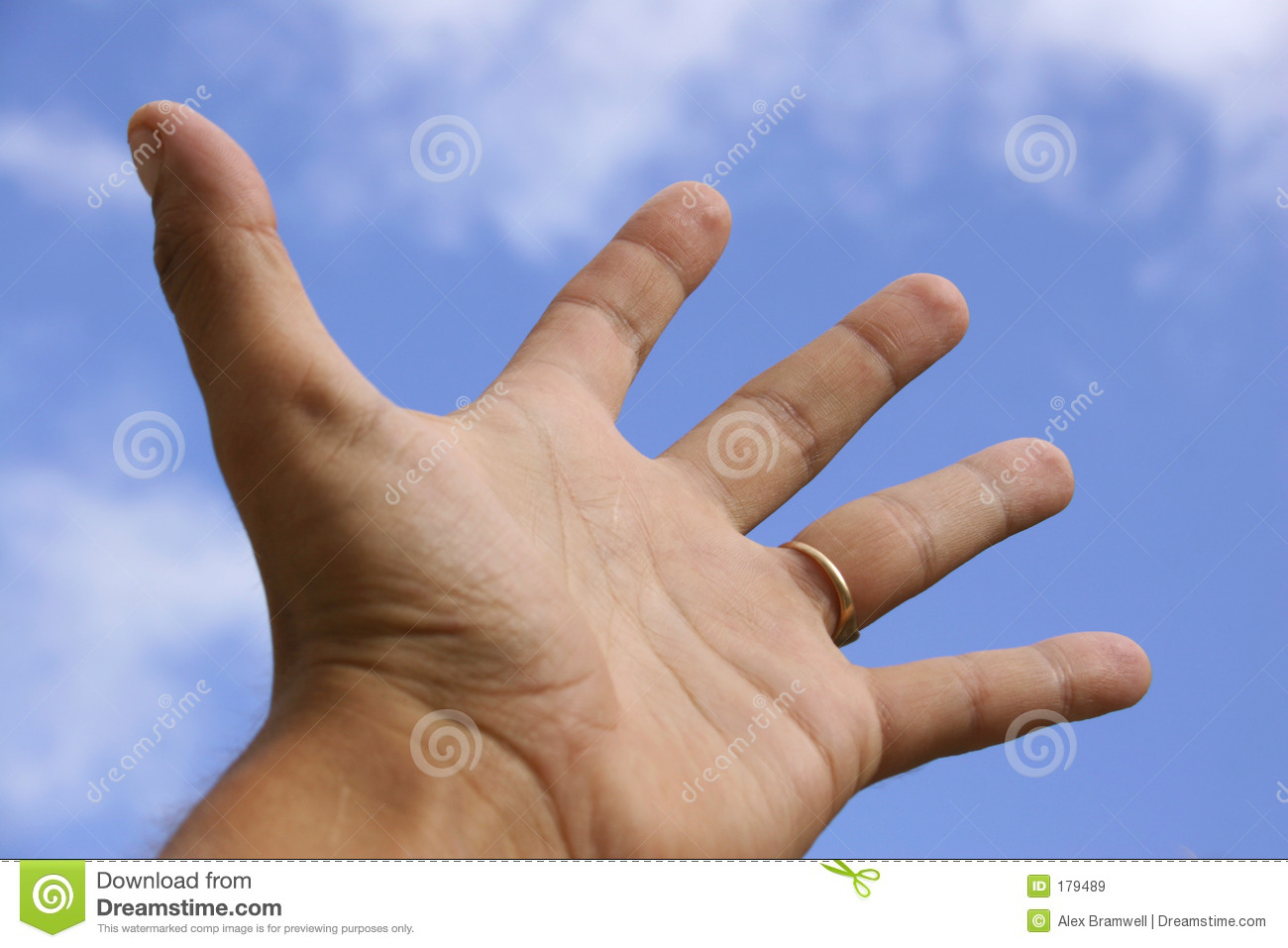 Hand Outstretched and Sky