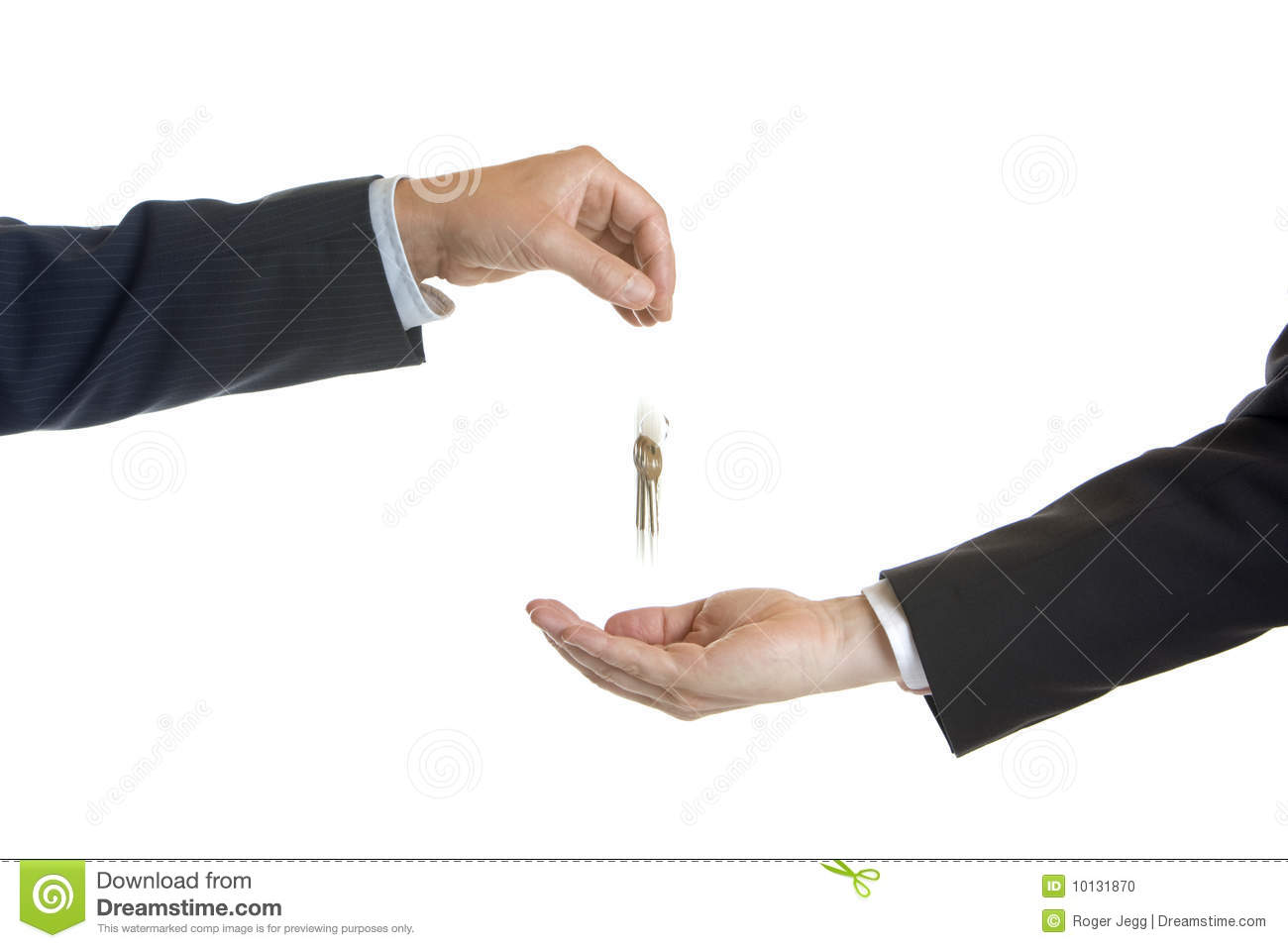 Hand Over Of Keys Stock Photo Image Of First Agent 10131870
