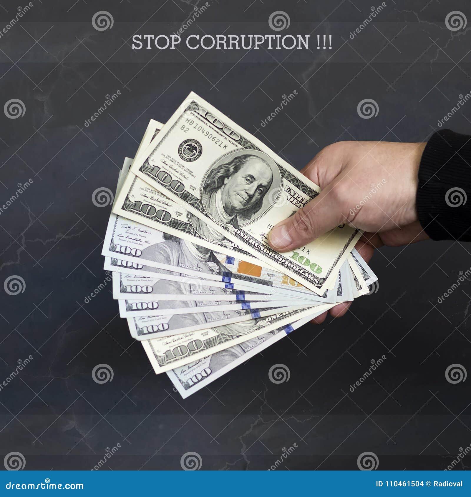 Hand på kassa Finans korruption Olagliga transaktioner