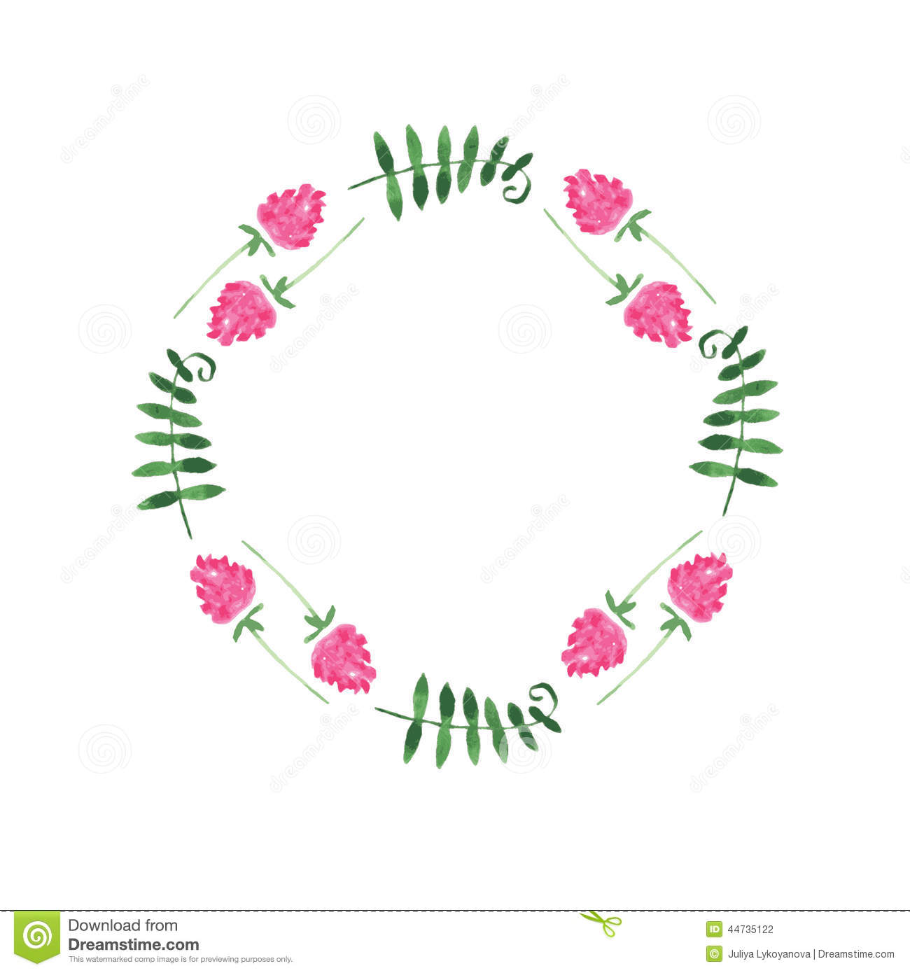Hand Paint Frame Of Watercolor Flower Stock Vector - Image ...
