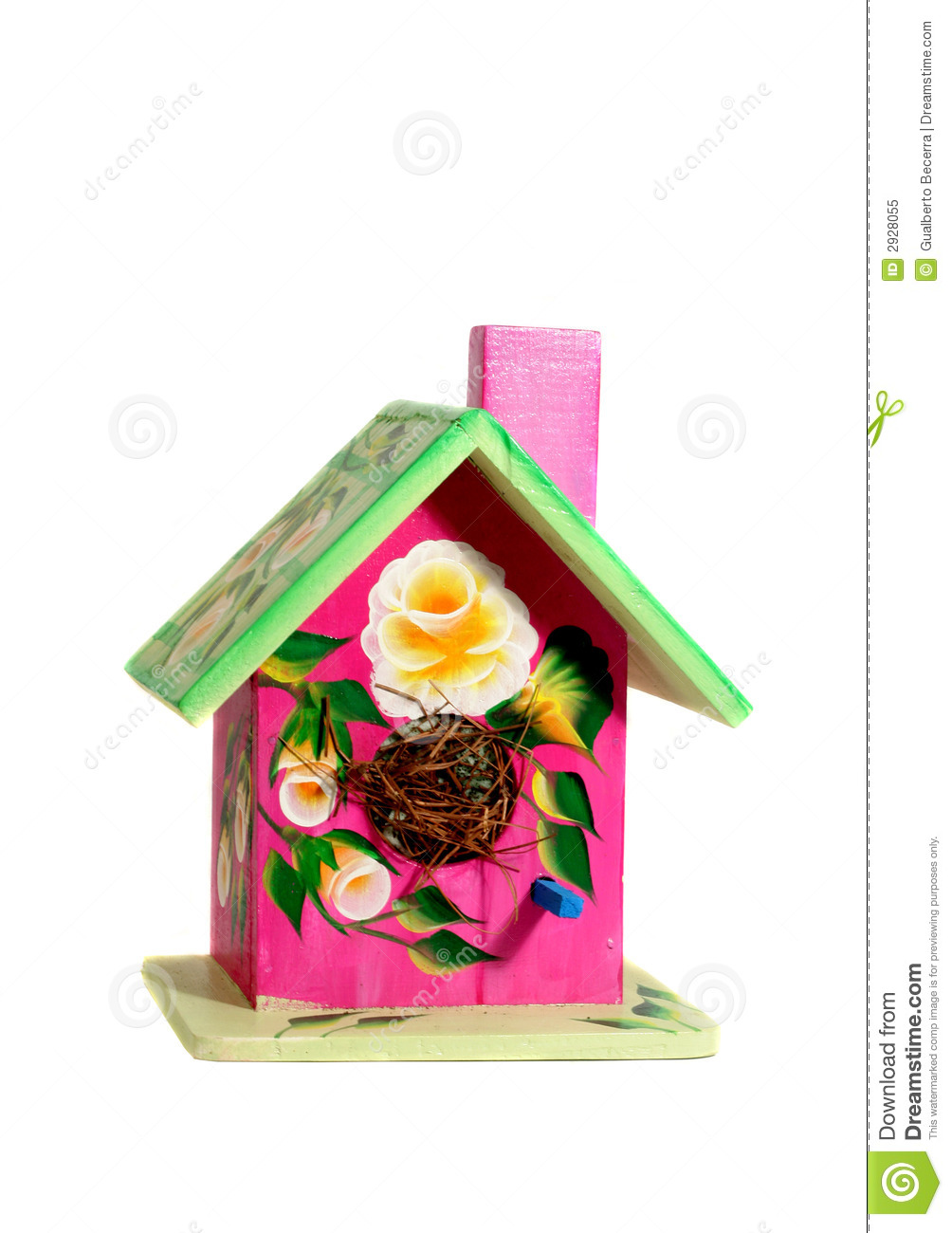 Hand Painted Bird House Stock Image Image Of Painted