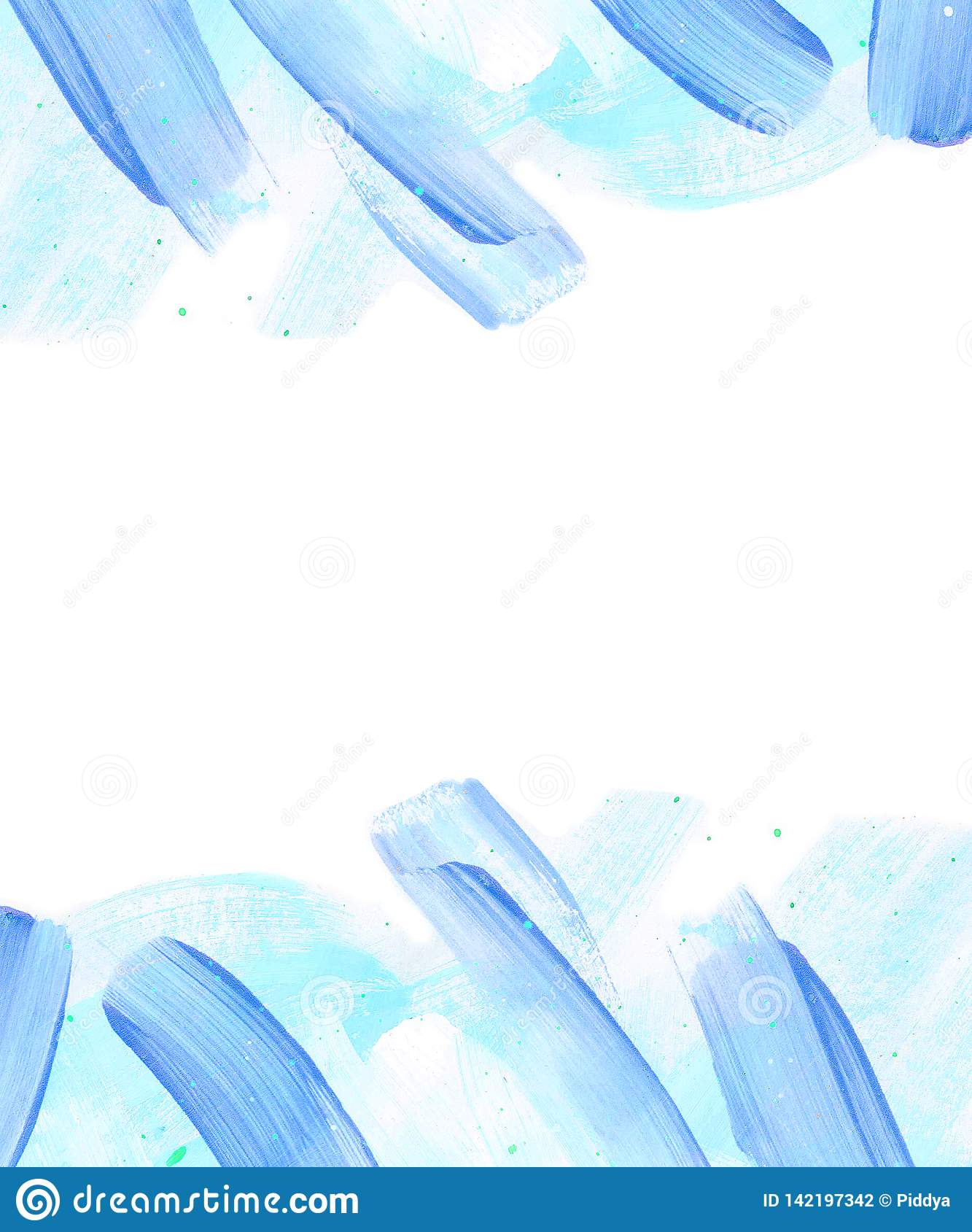 Hand painted blue abstract background