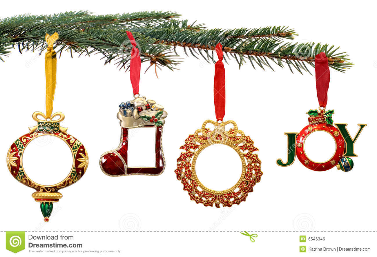 Hand painted christmas ornaments hanging on a tree stock photo image 6546346 - Hanging christmas ornaments ...
