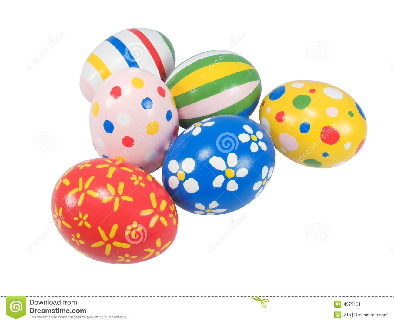 Hand Painted Easter Eggs Stock Image - Image: 4379161