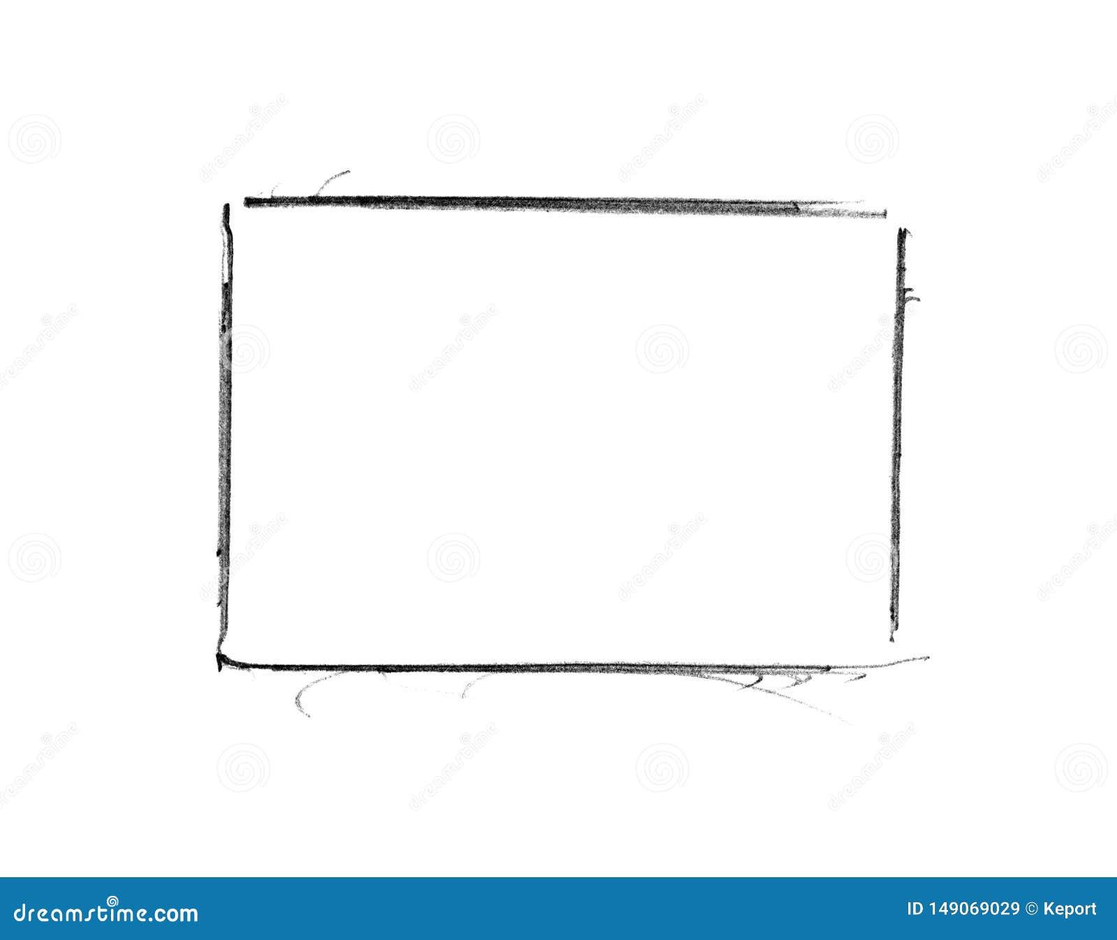 Pencil Sketch Empty Frame Stock Illustrations – 20,20 Pencil ...