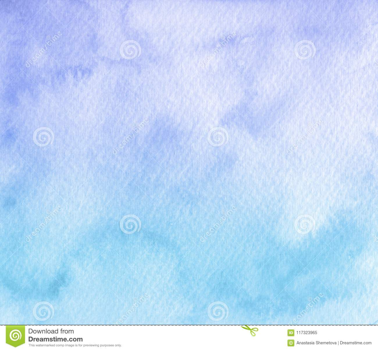 Hand painted soft blue watercolor texture background. Usable for