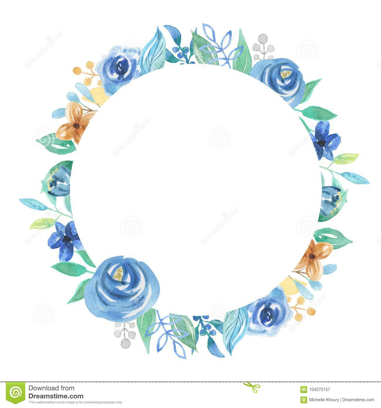 elegant circle frame with flowers and leaves cartoon Wedding Bouquet Drawing Cartoon Wedding Bouquet