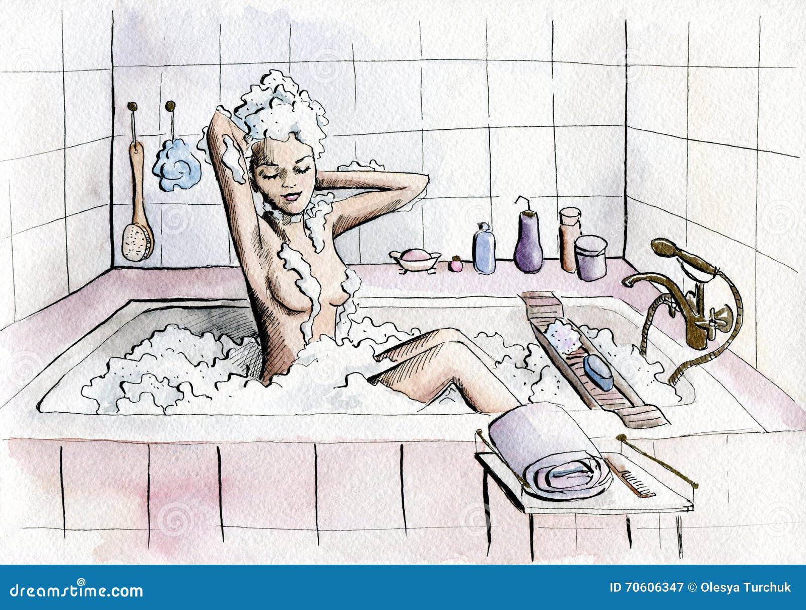 Similar Beautiful and naked sexy bath girls interesting