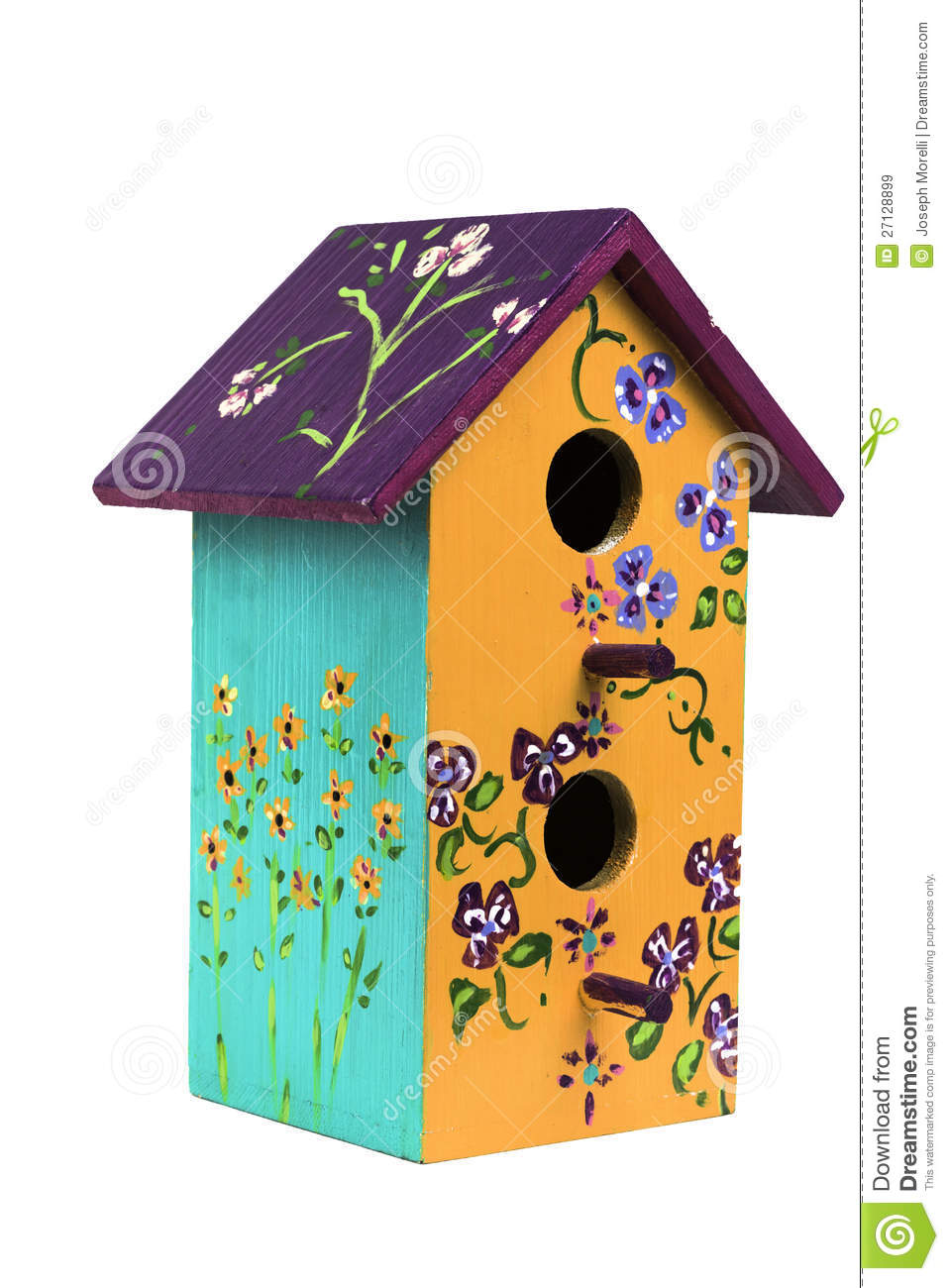 Hand Painted Wooden Birdhouse 1 Stock Image Image Of Painted
