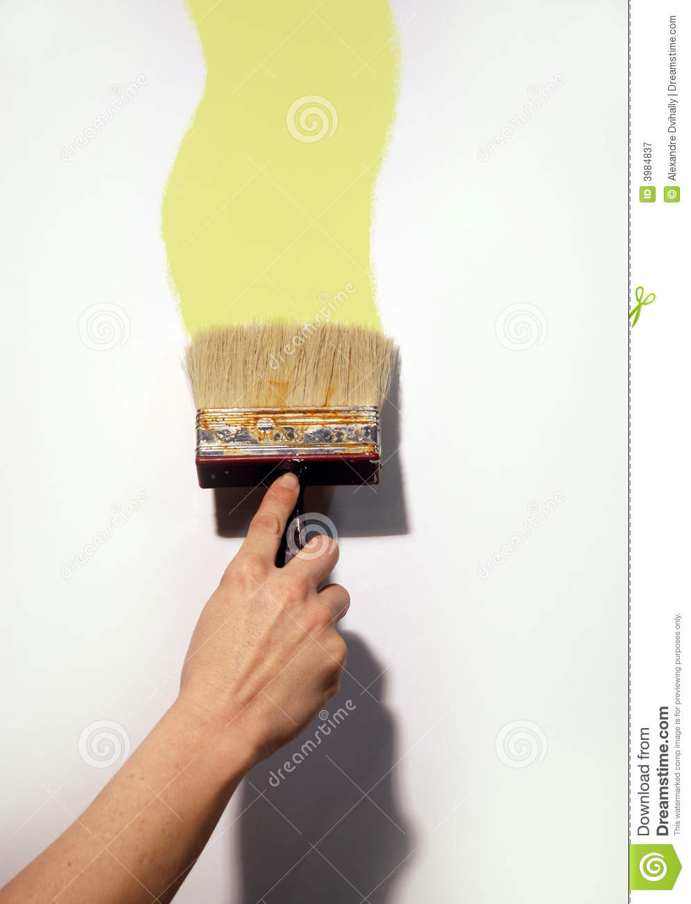 Hand Painting Wall Stock Image Image Of White Working 3984837