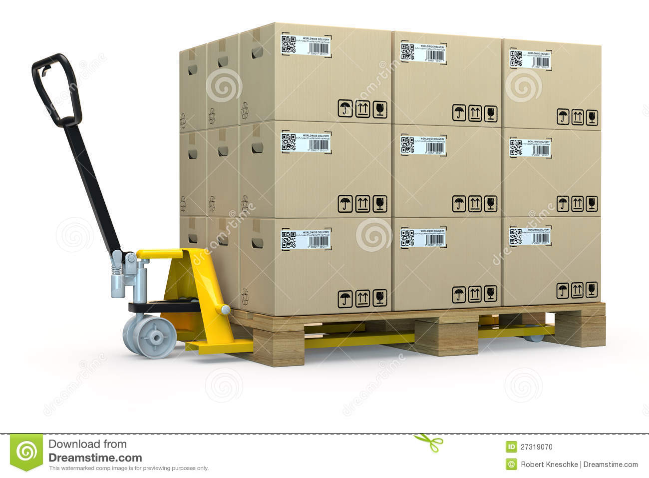 Hand Pallet Truck With Many Boxes Stock Photo - Image: 27319070 Vacuum Clipart