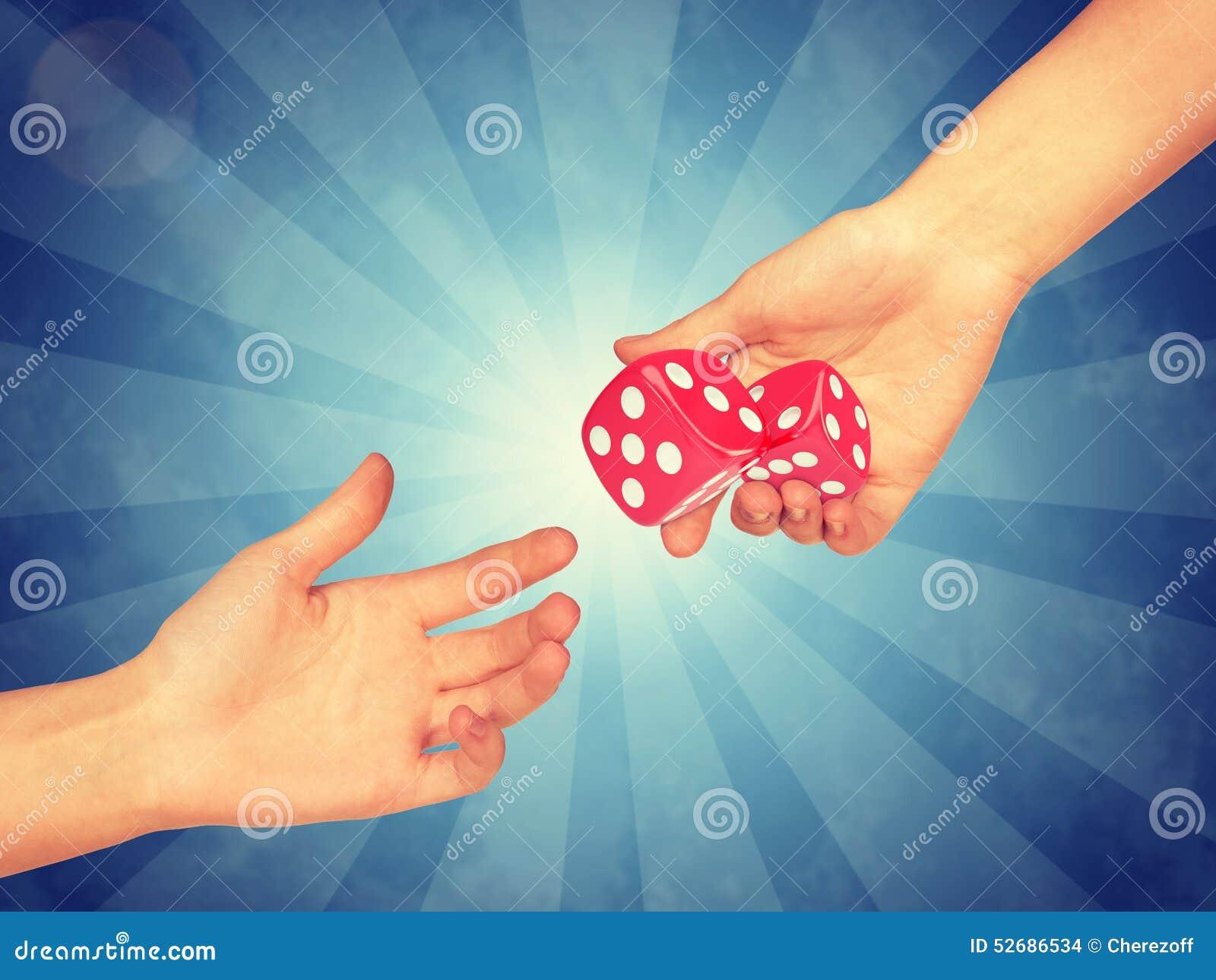 Hand passing pink bones