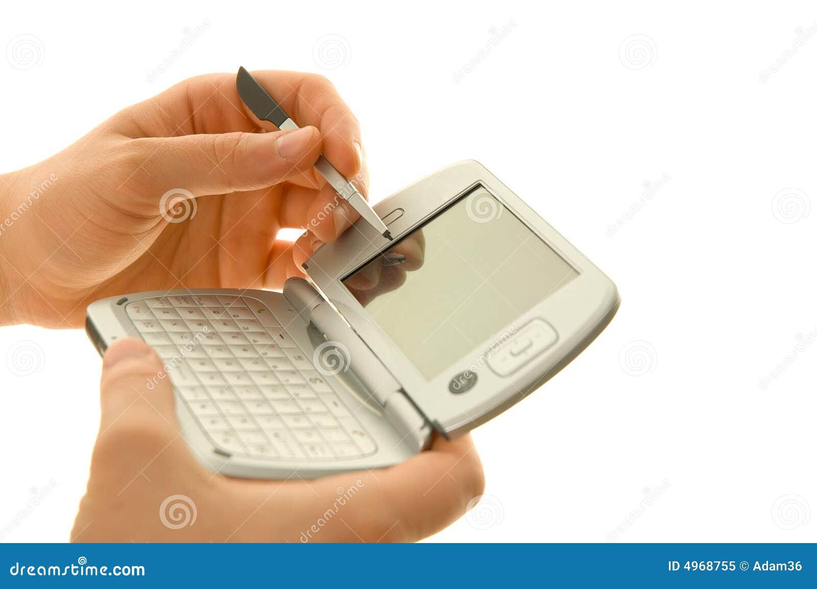 In hand PDA en naald