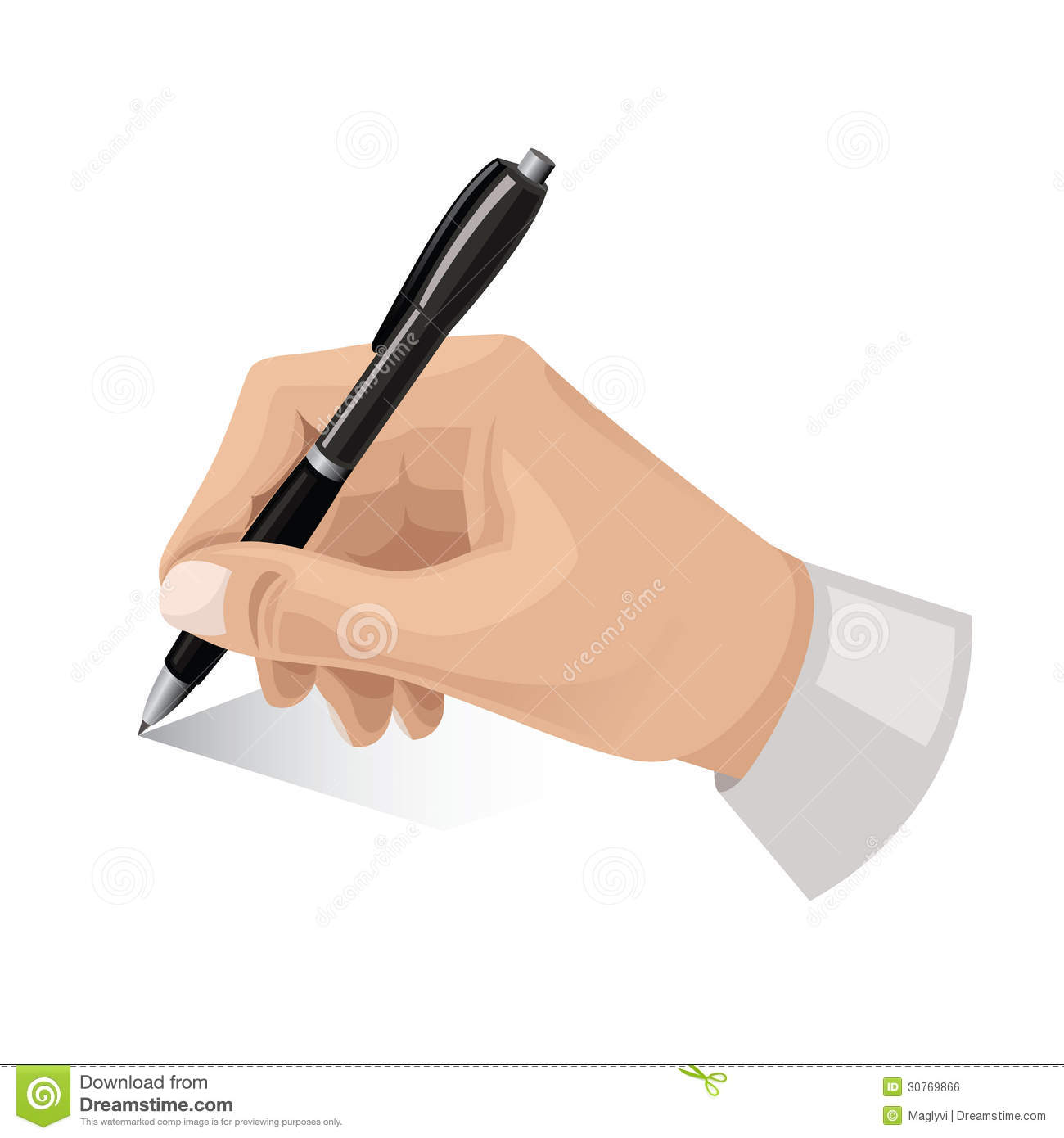 Hand With Pen Royalty Free Stock Image - Image: 30769866