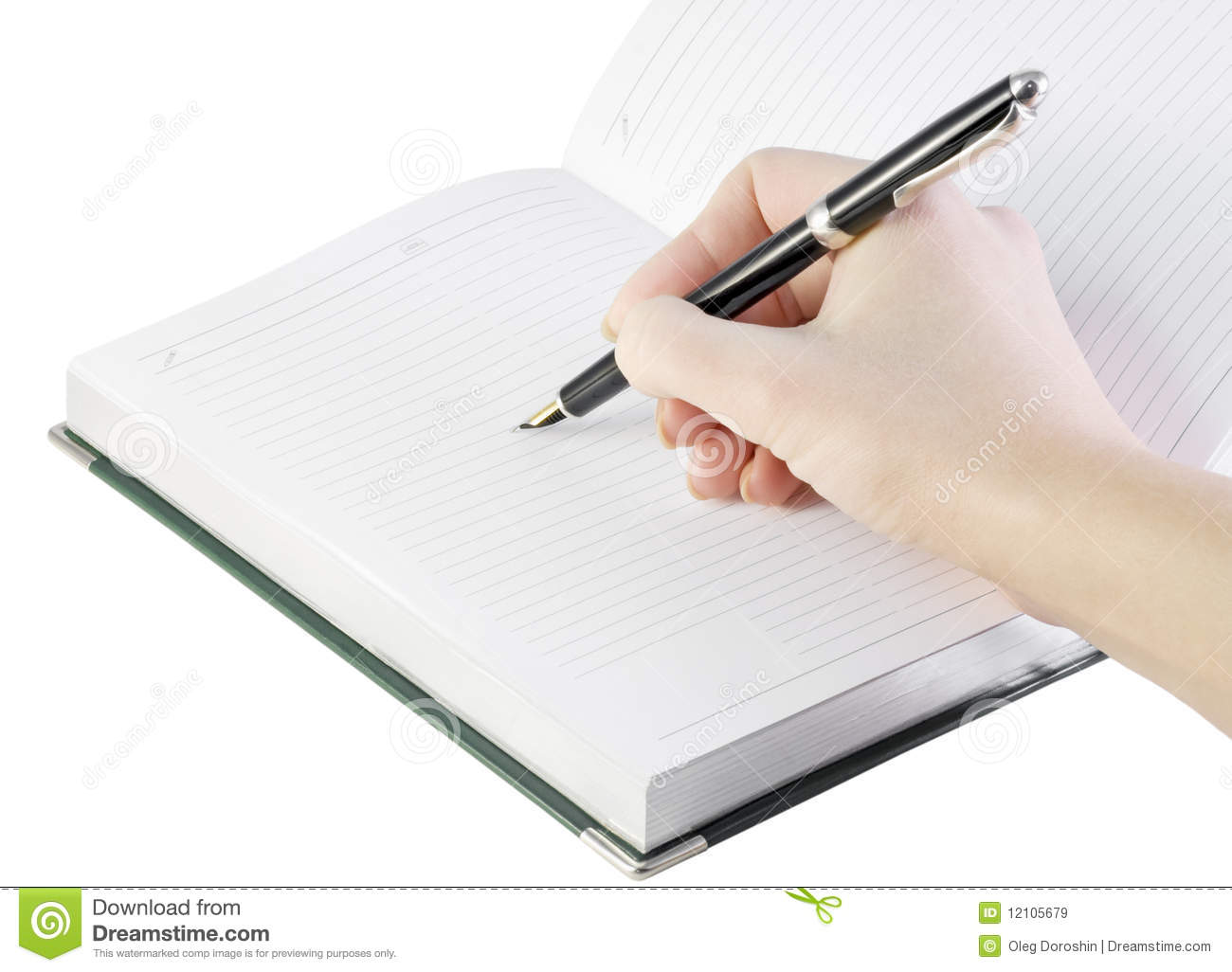 Hand With Pen Writes In Notebook Royalty Free Stock Images ...