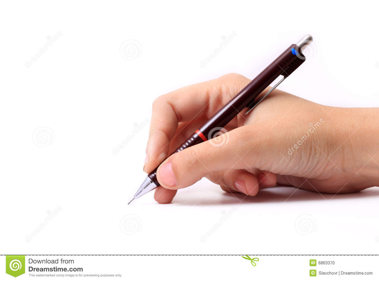Hand With Pencil Stock Photo - Image: 6863370