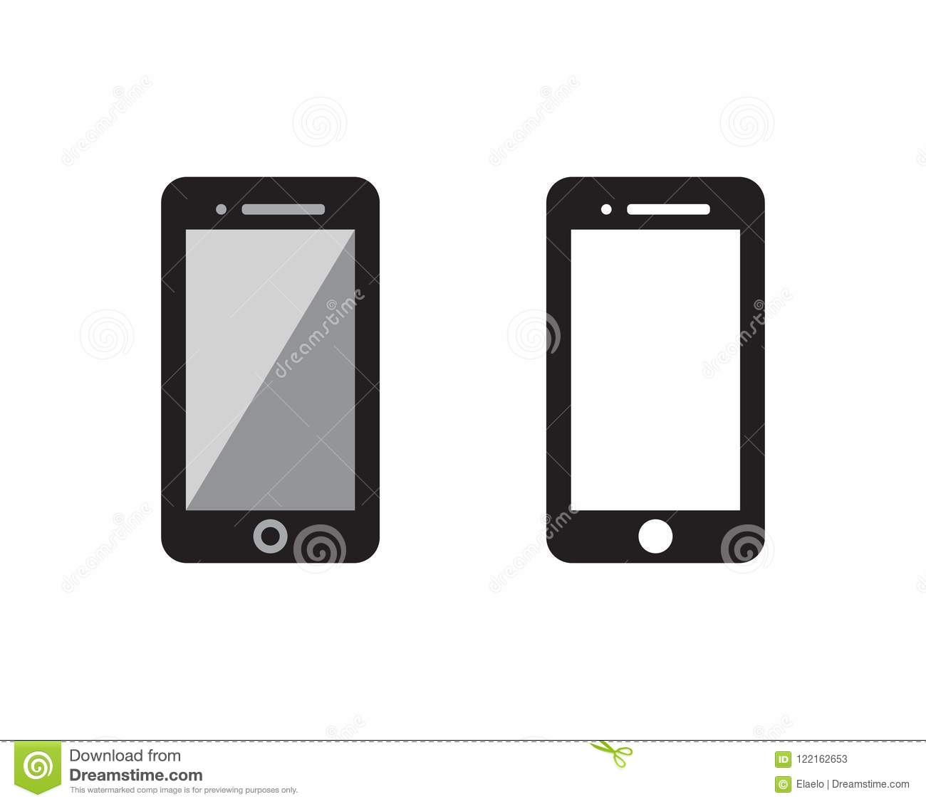 Hand Phone icon Template vector