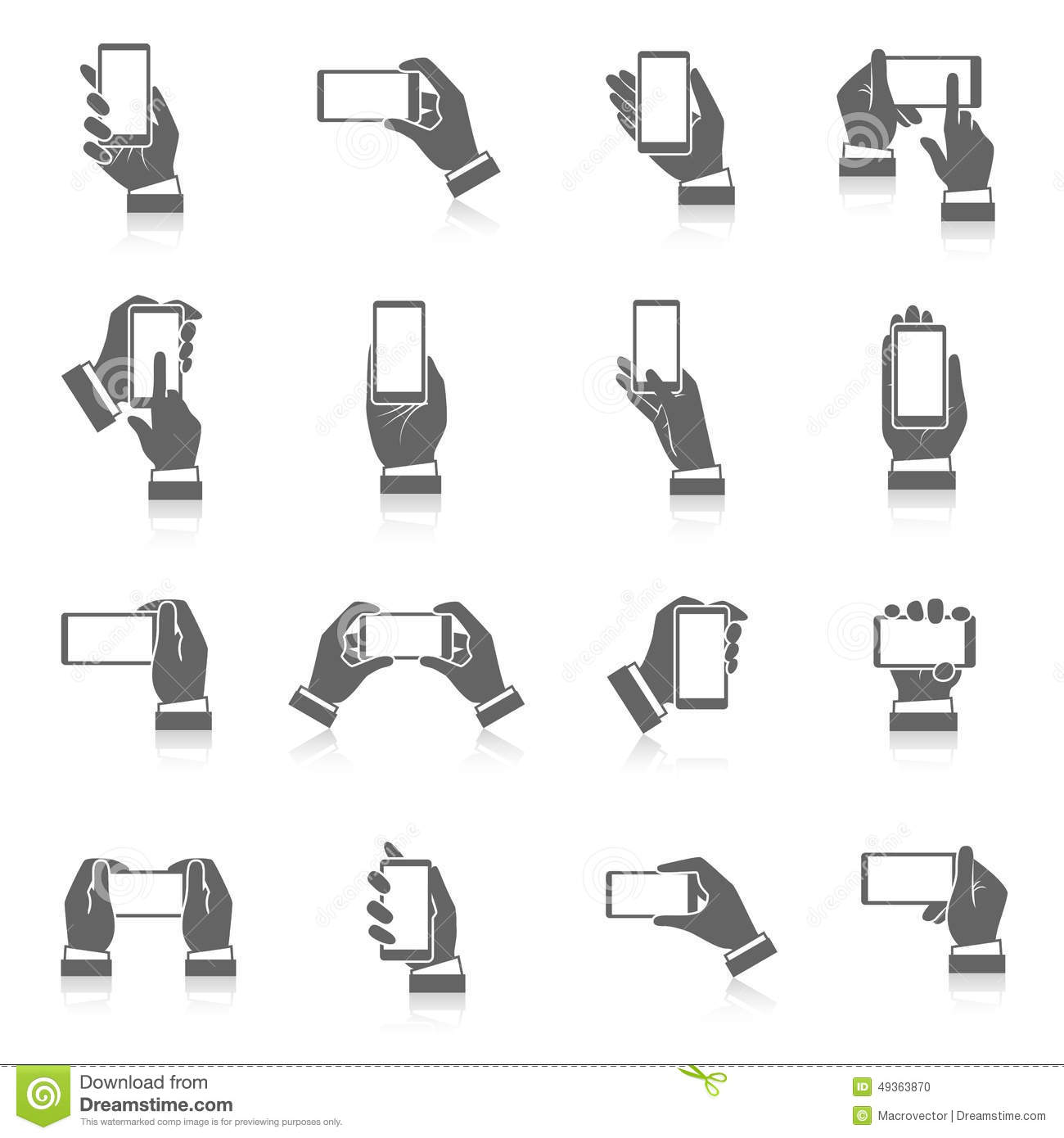 Hand Phone Icons Stock Vector - Image: 49363870