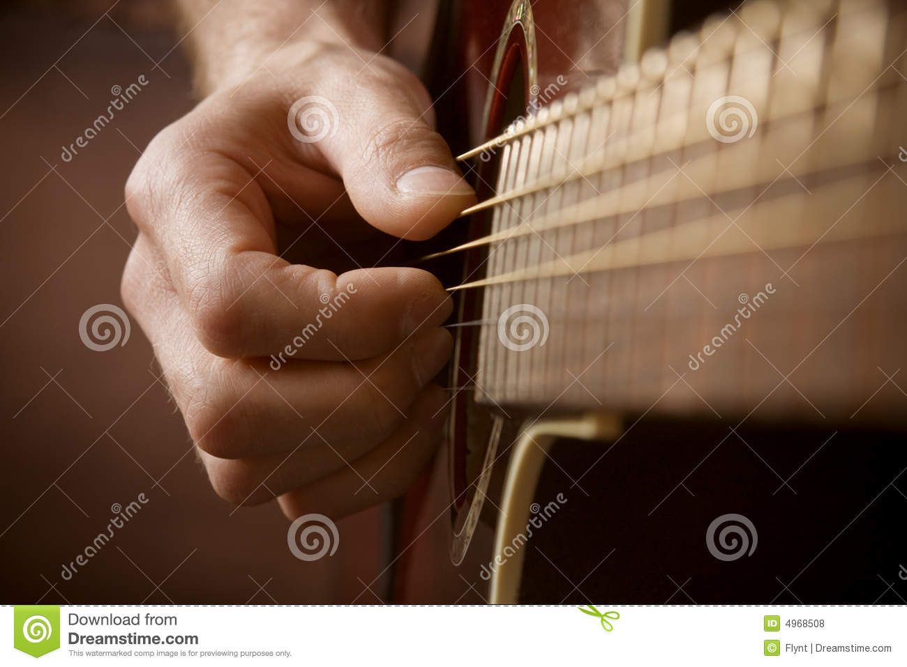 Hand Playing Acoustic Guitar Royalty Free Stock Photos ...