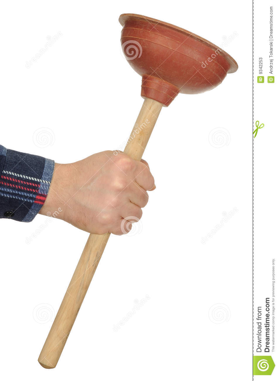 Hand With Plunger Stock Image Image Of Worker Bathroom 9342253