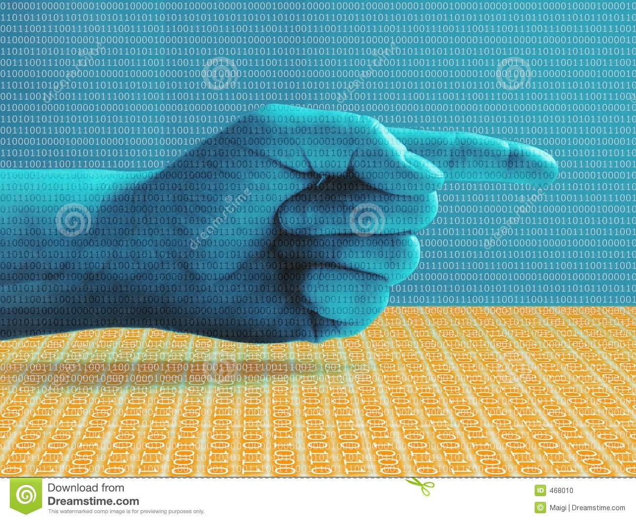 Hand Pointing Right Blue
