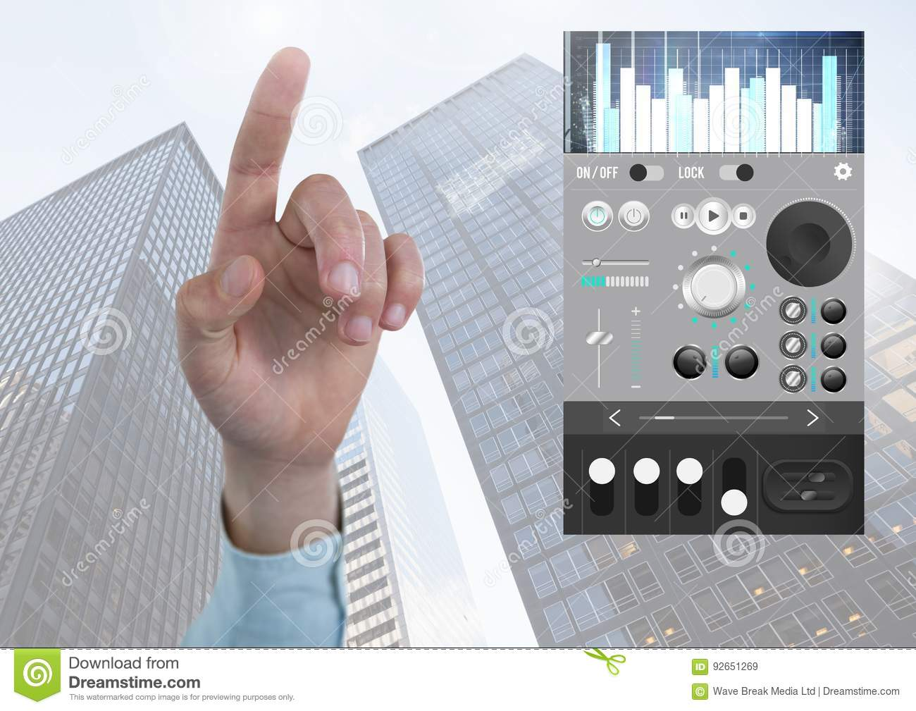 Hand Pointing With Sound Music And Audio Production ...