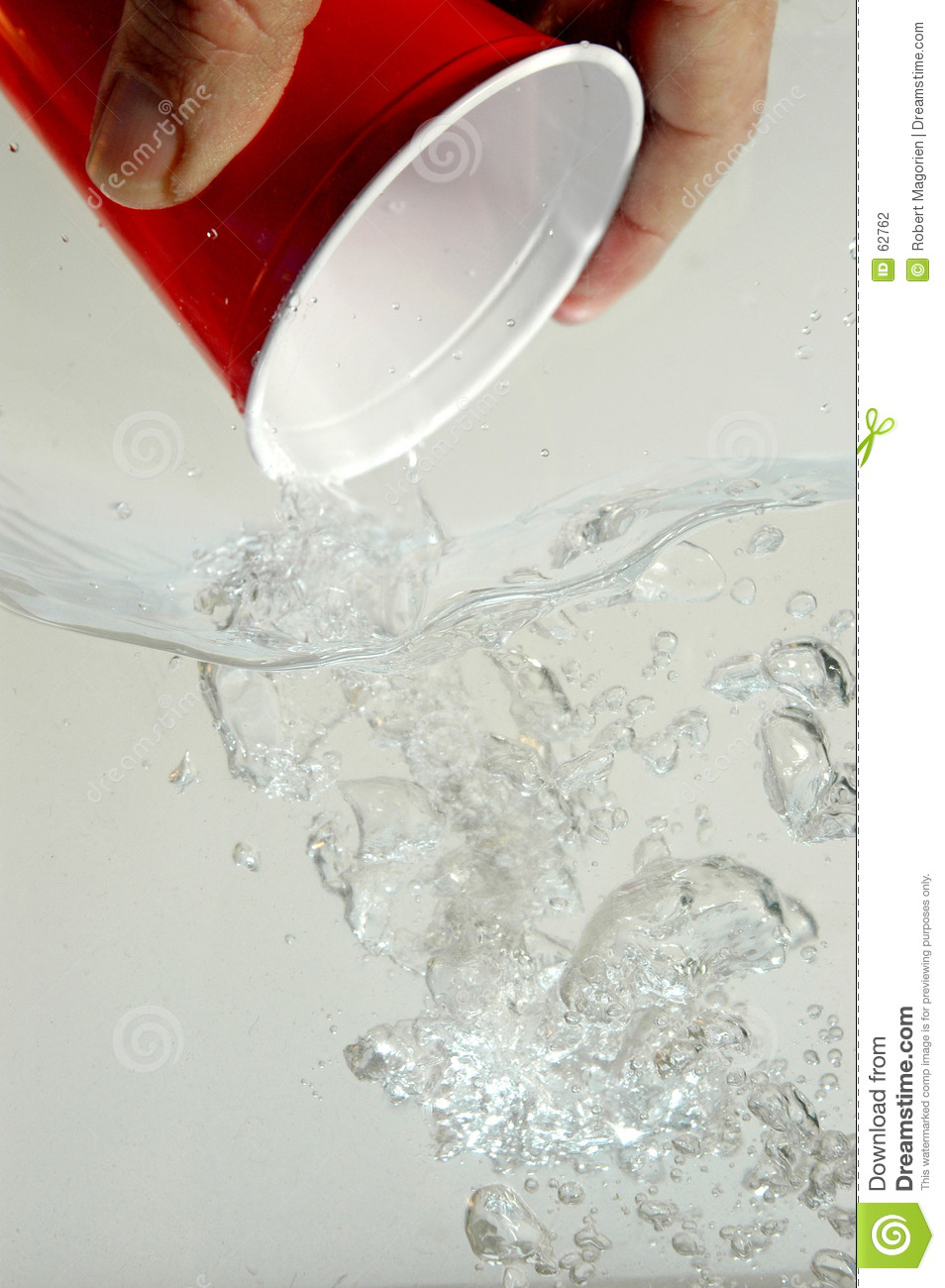 Hand pouring water