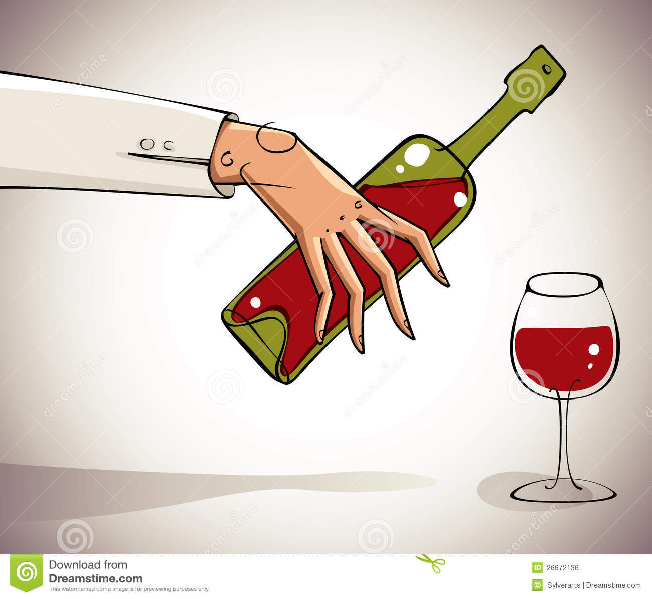 Hand Pouring Wine Into Glass. Royalty Free Stock Image ...