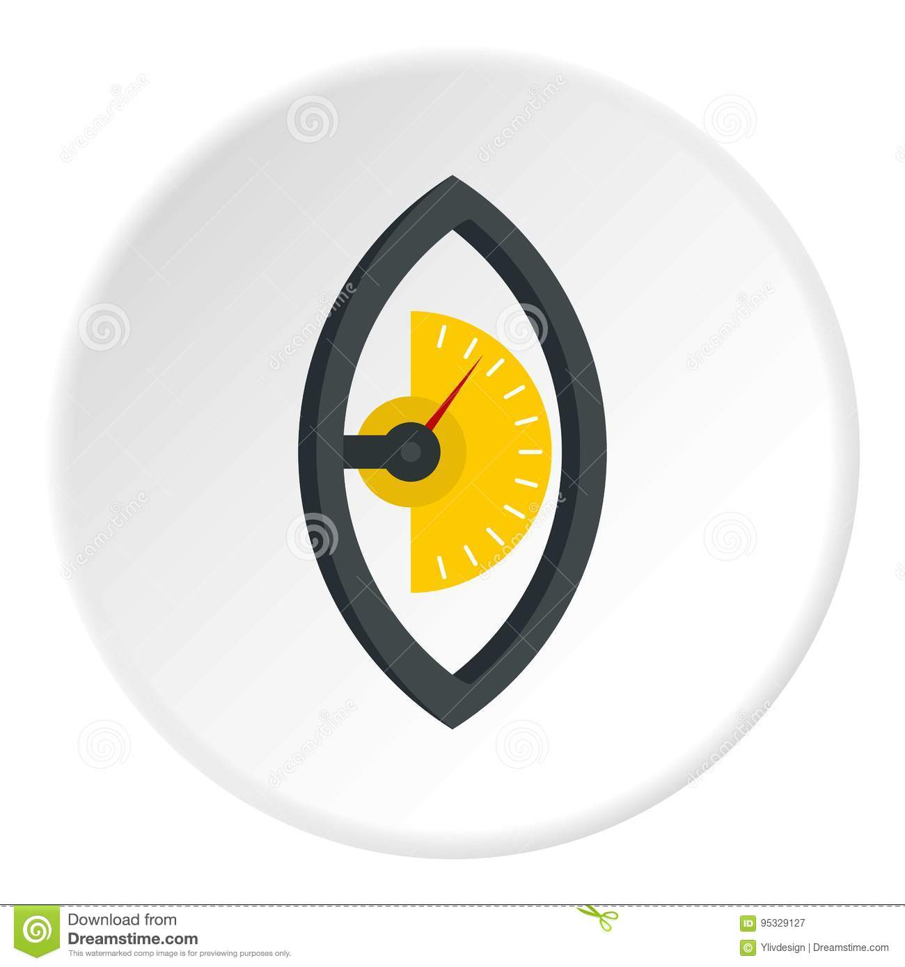 Energy Meter Icon : Hand power meter icon circle stock vector image
