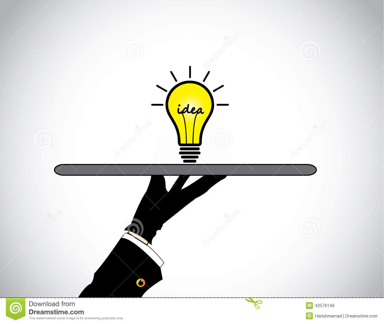 Idees And Solutions: Hand Presenting Sharing Of Bright Yellow Idea Solution