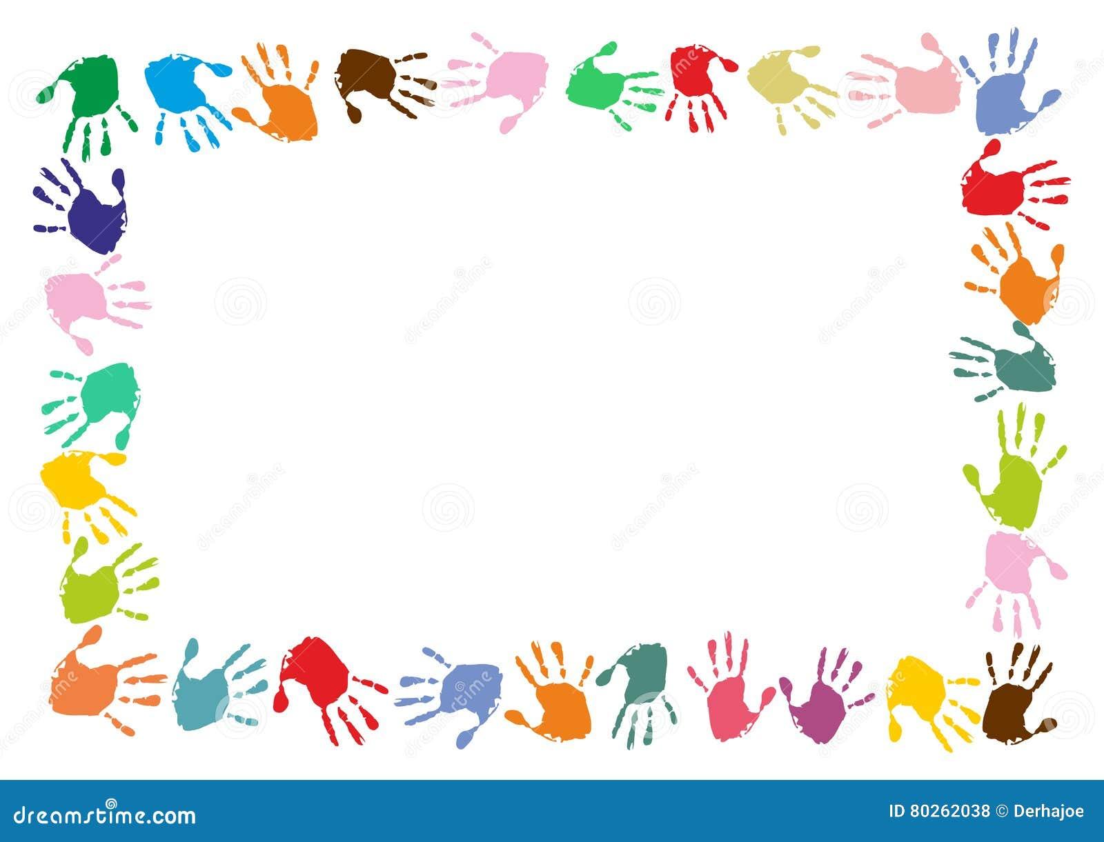 hand print boarder stock illustration illustration of print 80262038