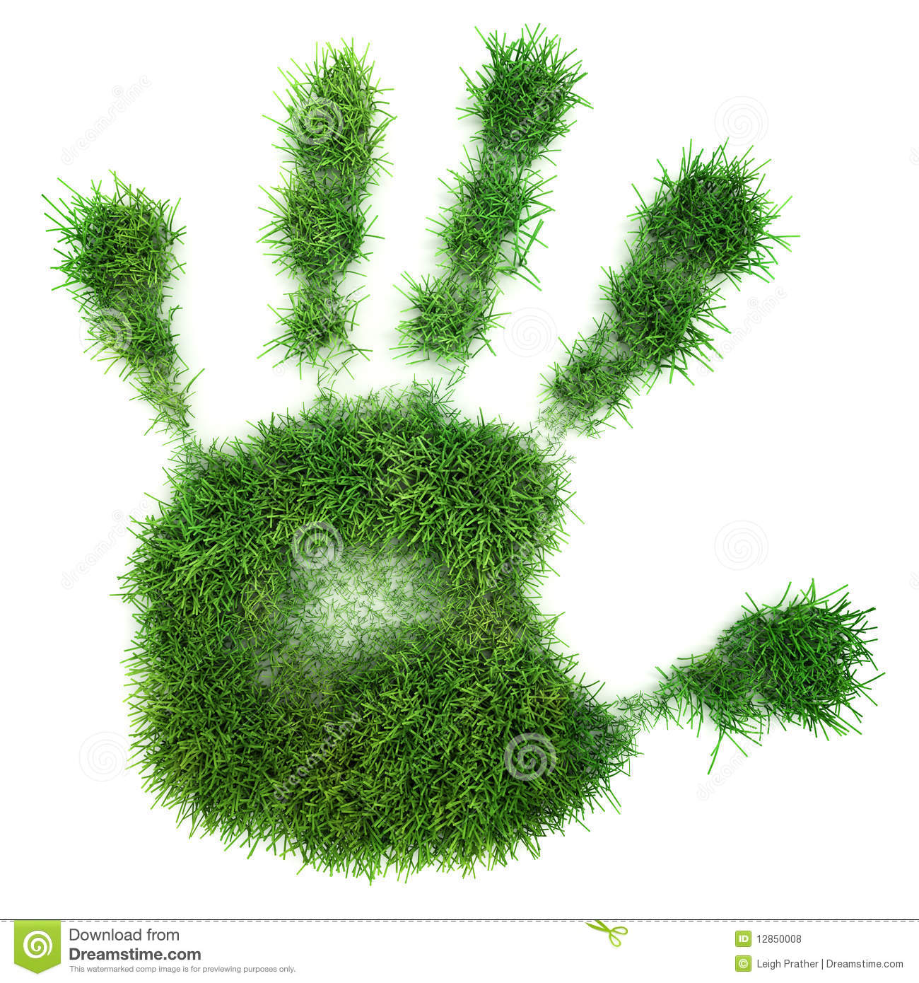 hand print of grass royalty free stock photos image