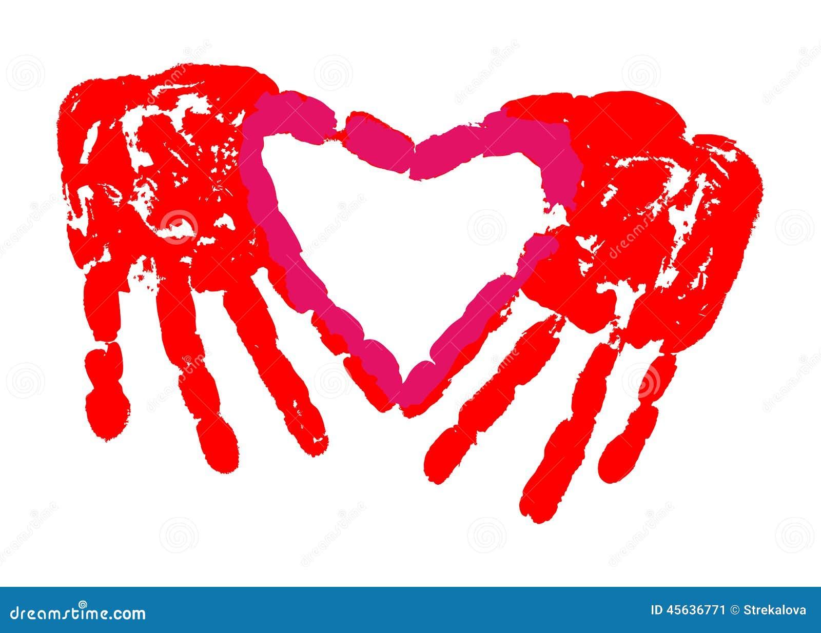 hand print of love