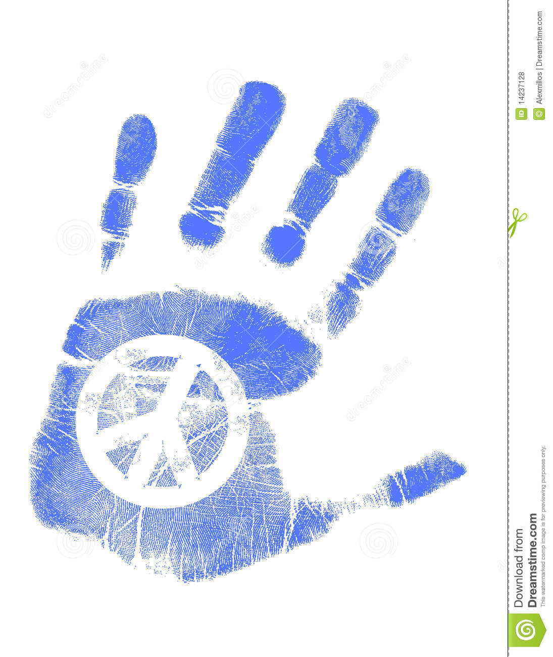 Hand Print / Vector / Peace Sign Stock Vector - Illustration