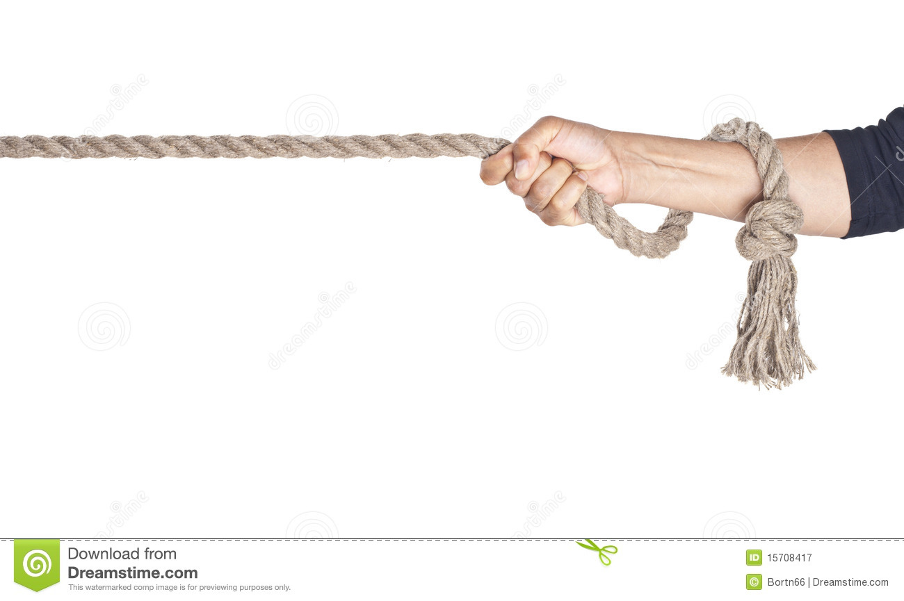 Hand Pull A Rope Royalty Free Stock Photography - Image: 15708417