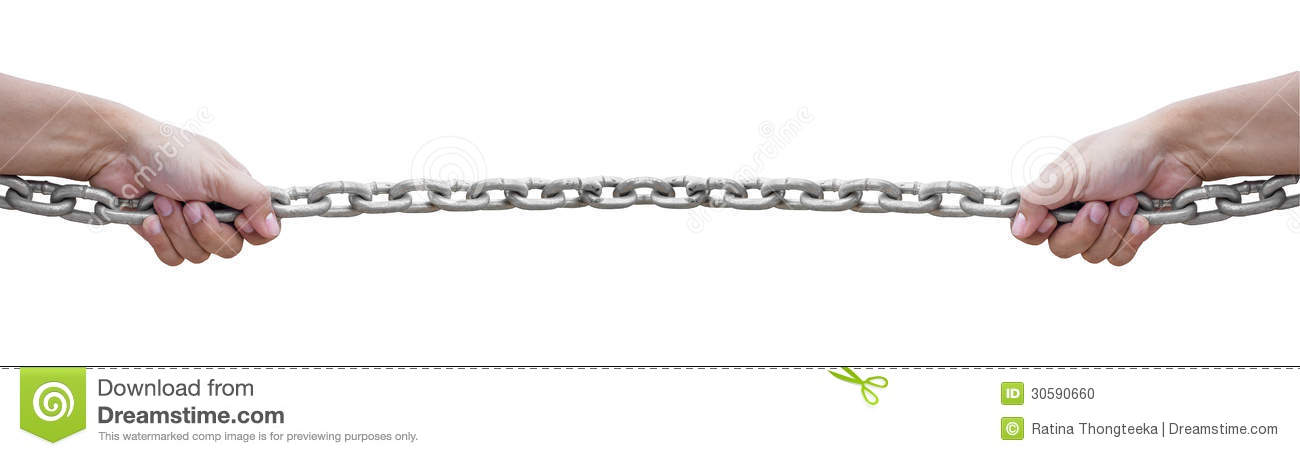 Pulling The Chain Adorable Hand Pulling Chain Stock Photo Image Of Metal Binder 60